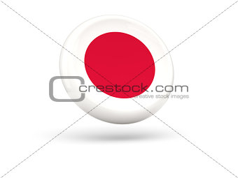 Flag of japan. Round icon