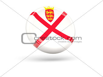 Flag of jersey. Round icon