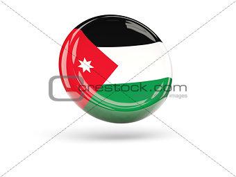 Flag of jordan. Round icon
