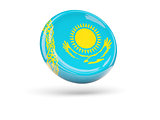 Flag of kazakhstan. Round icon