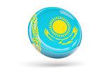 Flag of kazakhstan. Round icon