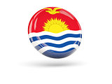 Flag of kiribati. Round icon