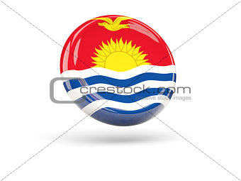 Flag of kiribati. Round icon