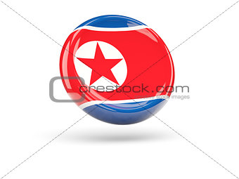 Flag of korea north. Round icon