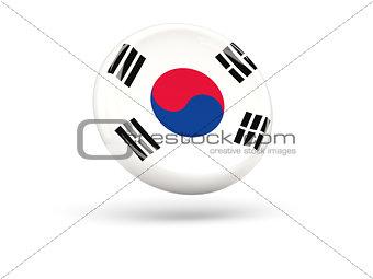 Flag of korea south. Round icon