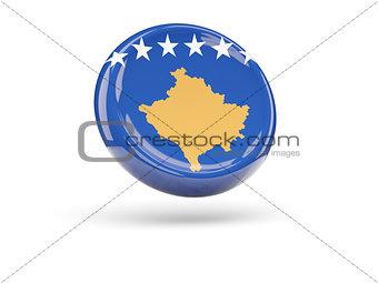Flag of kosovo. Round icon