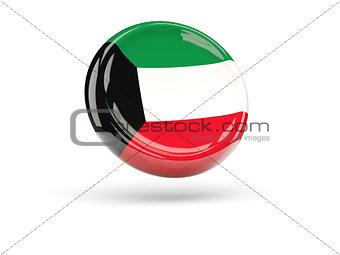 Flag of kuwait. Round icon