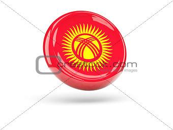 Flag of kyrgyzstan. Round icon