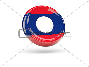 Flag of laos. Round icon