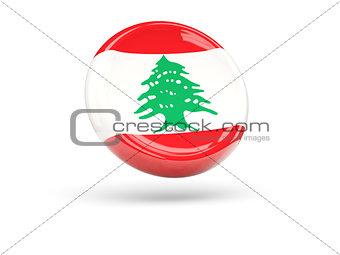 Flag of lebanon. Round icon