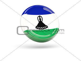 Flag of lesotho. Round icon