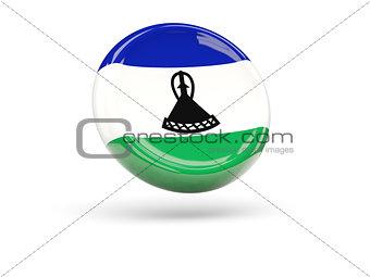 Flag of lesotho. Round icon