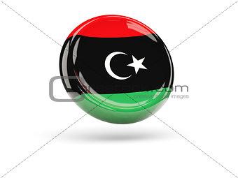 Flag of libya. Round icon