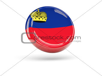 Flag of liechtenstein. Round icon