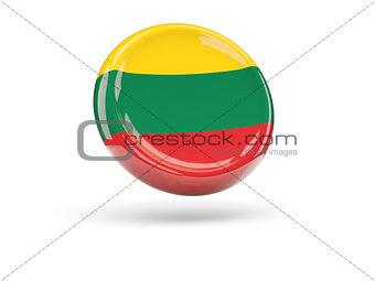 Flag of lithuania. Round icon