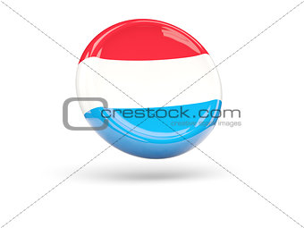 Flag of luxembourg. Round icon