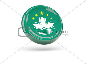 Flag of macao. Round icon