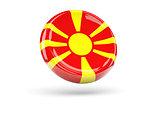 Flag of macedonia. Round icon