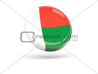 Flag of madagascar. Round icon