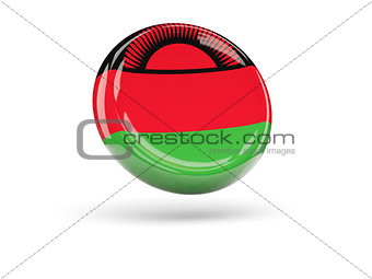 Flag of malawi. Round icon