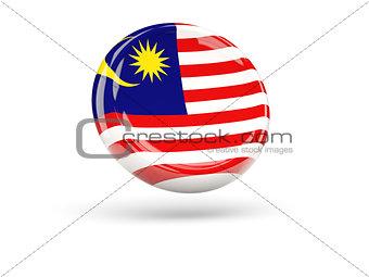Flag of malaysia. Round icon