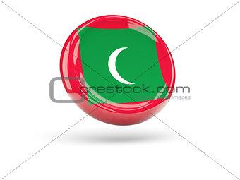 Flag of maldives. Round icon