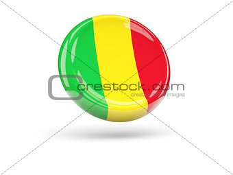 Flag of mali. Round icon