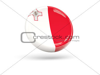 Flag of malta. Round icon