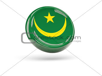 Flag of mauritania. Round icon