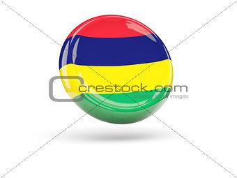 Flag of mauritius. Round icon