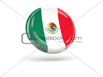 Flag of mexico. Round icon