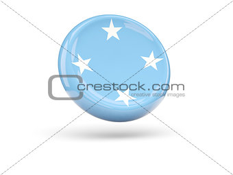 Flag of micronesia. Round icon