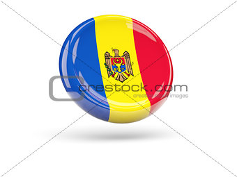 Flag of moldova. Round icon
