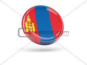 Flag of mongolia. Round icon