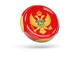 Flag of montenegro. Round icon