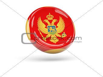 Flag of montenegro. Round icon