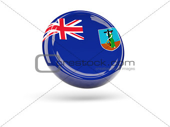 Flag of montserrat. Round icon