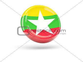 Flag of myanmar. Round icon
