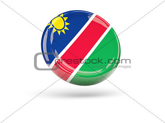 Flag of namibia. Round icon