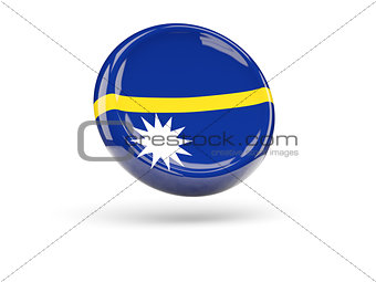 Flag of nauru. Round icon