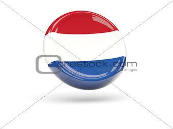 Flag of netherlands. Round icon