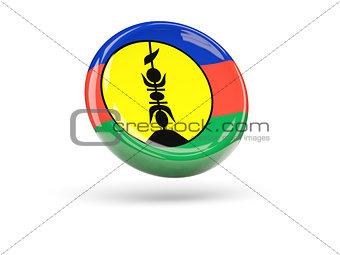Flag of new caledonia. Round icon
