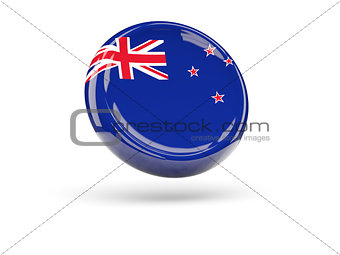 Flag of new zealand. Round icon