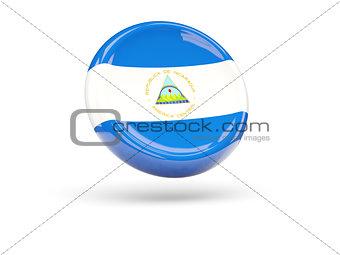 Flag of nicaragua. Round icon