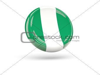 Flag of nigeria. Round icon