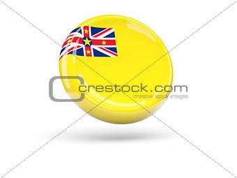 Flag of niue. Round icon