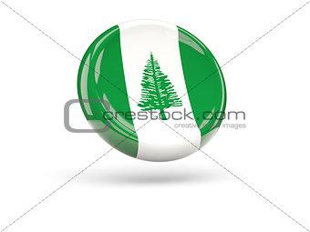 Flag of norfolk island. Round icon