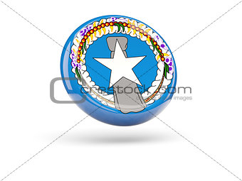 Flag of northern mariana islands. Round icon