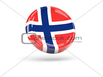 Flag of norway. Round icon