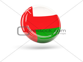 Flag of oman. Round icon